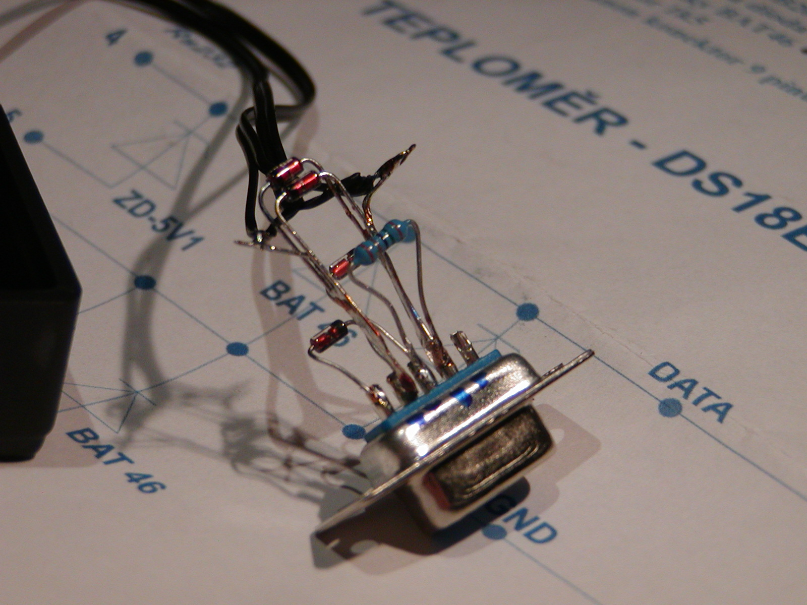 osazení konektoru